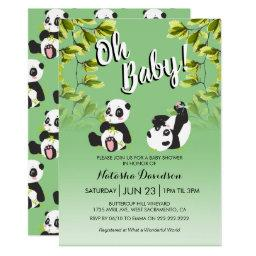Cute Panda Unisex | Oh Baby! Shower Invitation