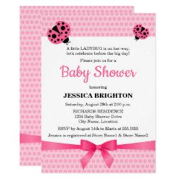 Cute Pink Ladybug Baby Shower