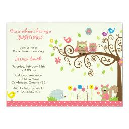 Owl baby shower invitations babyshowerinvitations4u cute pink owl girl baby shower filmwisefo