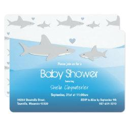 Cute Sharks And Ocean | Baby Shower