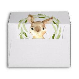Cute Spring Bunny Baby Shower or Party Envelope