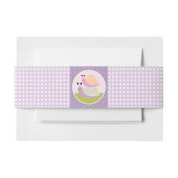 Cute Stacked Snails with Polka Dots Belly Band