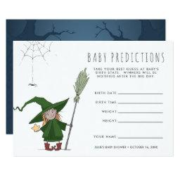 Cute Witch | Baby Shower Guessing Game Invitation