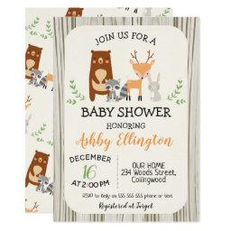 Cute Woodland Animals Baby Shower