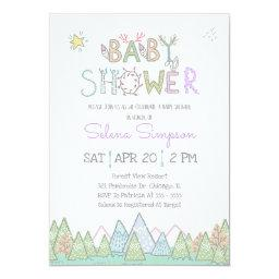 Woodland Baby Shower Invitations BabyShowerInvitations4U