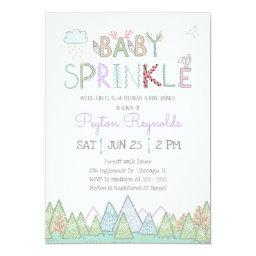 Cute Woodland Creatures Baby Sprinkle Invitation