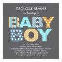 Cutout Letters Baby Shower  - Boy