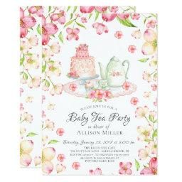 Dainty Pink Floral Baby Tea Party