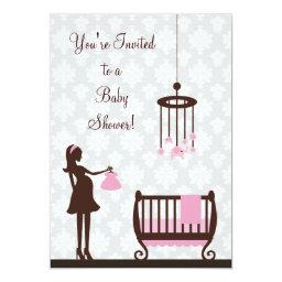 Damask Baby Shower : Girl :