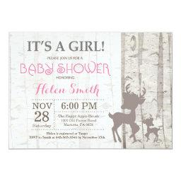 Deer Girl Baby Shower  Rustic Woodland