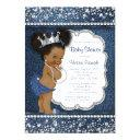 Denim Diamond Girls African American Baby Shower Invitation