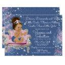 Denim & Diamonds Princess Pink And Silver Invitation