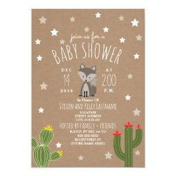 Desert Stars Gray Fox Neutral Baby Shower