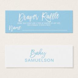 DIAPER RAFFLE Ticket Blue BOY