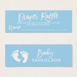DIAPER RAFFLE Ticket Blue BOY Baby Shower QTY 100