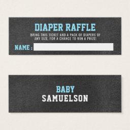 DIAPER RAFFLE Ticket Sports Chalkboard Baby Shower
