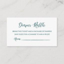 Diaper Raffle Tickets Enclosure