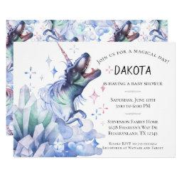 Dinocorn Baby Shower | Watercolor Unicorn Dinosaur