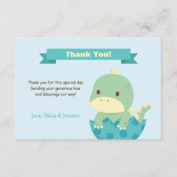 Dinosaur About to Hatch Baby Shower Thank You Note