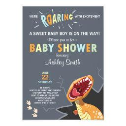 Dinosaur Baby shower  Dino Baby boy Blue