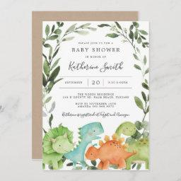 Dinosaurs Baby Shower Invitation