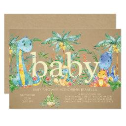 Dinosaurs Gender Neutral Baby shower