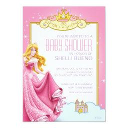 Disney Princess Aurora It's A Girl Baby Shower Invitations