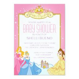 Disney Princess It's A Girl Baby Shower Invitation
