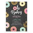 Donut Baby Shower Invitation Coed Shower Doughnut