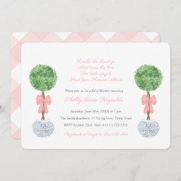 Double The Blessings Twin Girls Classy Baby Shower Invitation