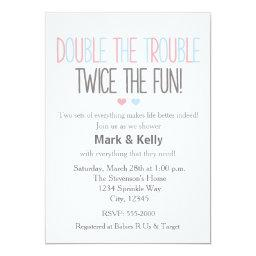Double The Trouble Twins Baby Shower