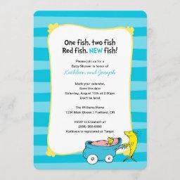 Dr. Seuss | One Fish   Boy Baby Shower Save The Date