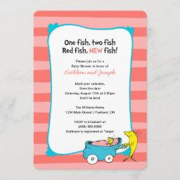 Dr. Seuss | One Fish - Girl Baby Shower Save The Date