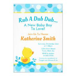 Duck Baby Shower Invitations Baby Duck Boy