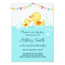 Duck Baby Shower Invite Rubber Duck Duckling