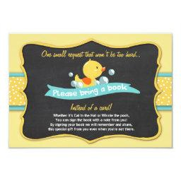 Duckling Baby Shower Bring a book  Duck Yellow