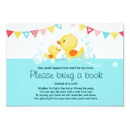 Duckling Baby Shower Bring a book  Rubber Duck