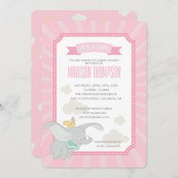 Dumbo | Girl Baby Shower Invitation