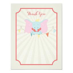 Dumbo | Girl Baby Shower Thank You