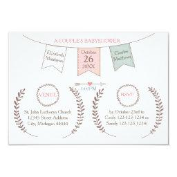 Elegant Bunting - 3x5 Couple's