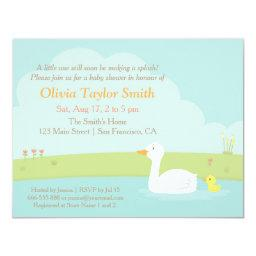 Elegant Duck and Duckling Baby Shower