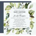 Elegant Eucalyptus With Greenery Baby Shower Invitation