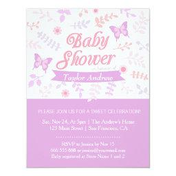Elegant Floral Butterfly Baby Shower