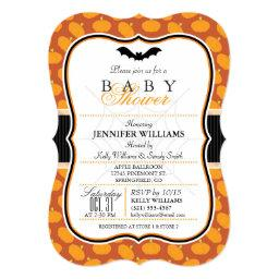 Elegant Halloween Theme Baby Shower Invite