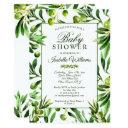 Elegant Olive Boho Garden Baby Shower Invitation