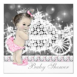 Elegant Pink and Gray Princess Baby Shower