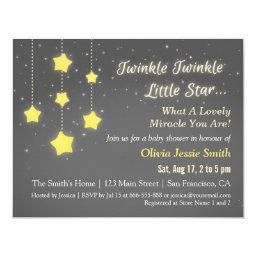 Elegant Twinkle Twinkle Little Star Baby Shower