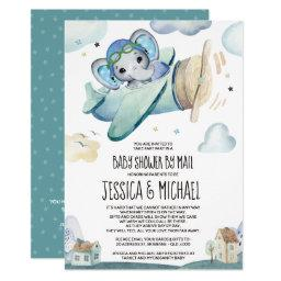 Elephant Airplane | Baby Shower By Mail Invitation