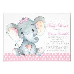 Elephant Baby Girl Shower