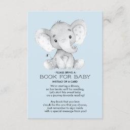 Elephant Baby Shower Book For Baby Invitations
